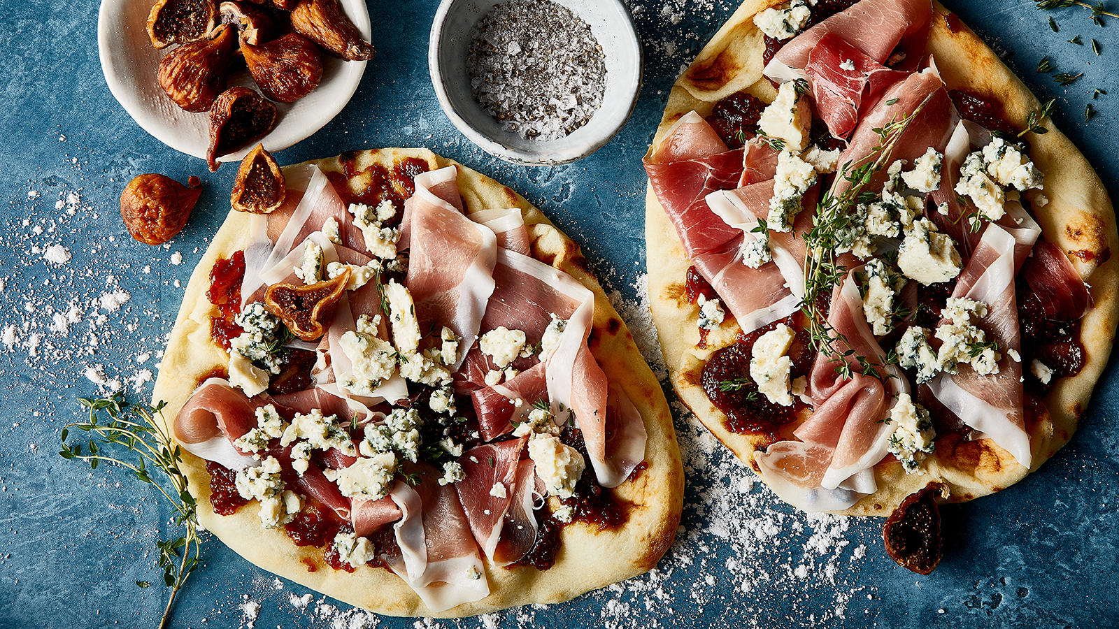 Fig, Blue Cheese and Prosciutto Flatbread