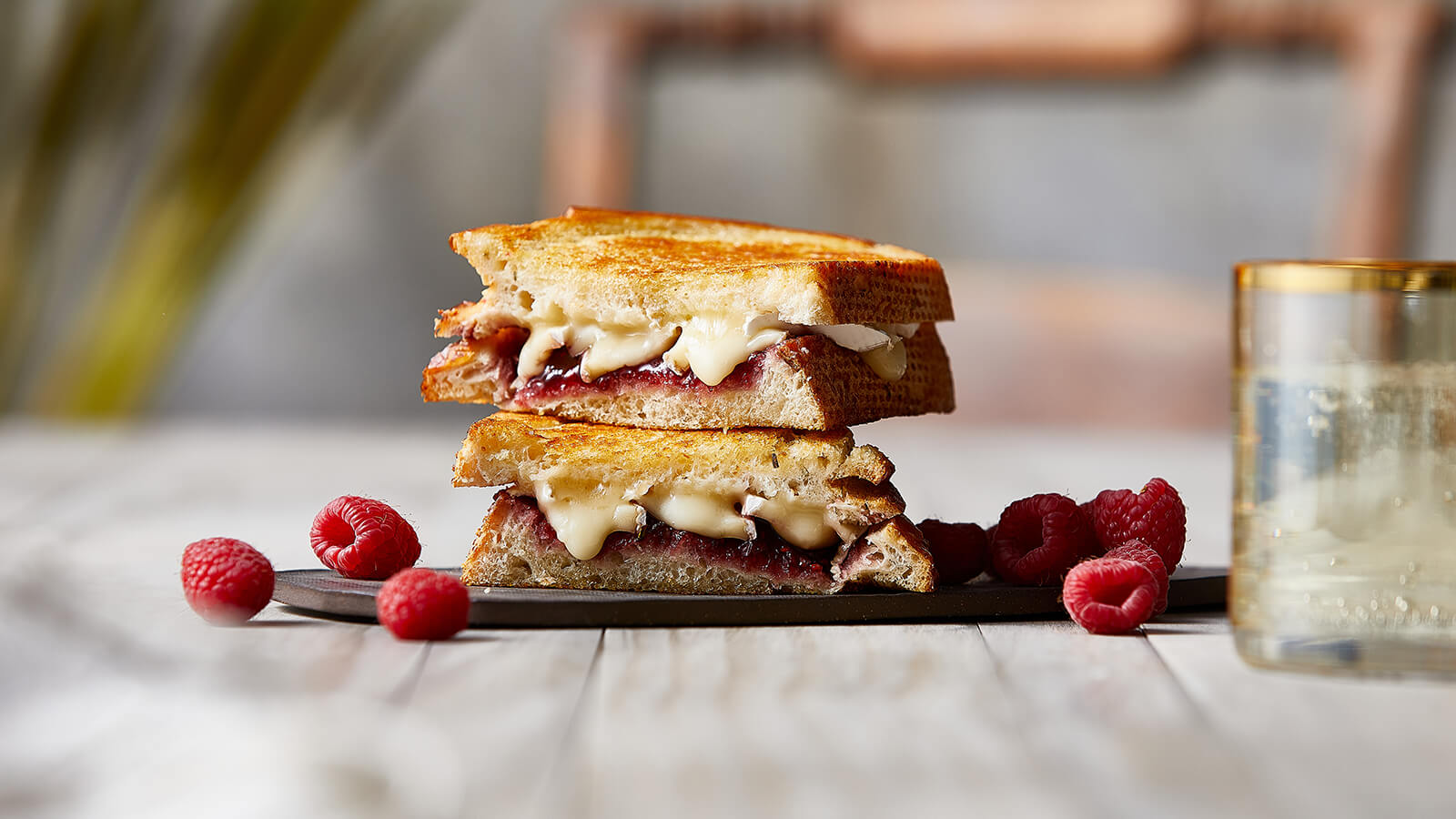 Raspberry Brie Grilled Cheese Sandwich