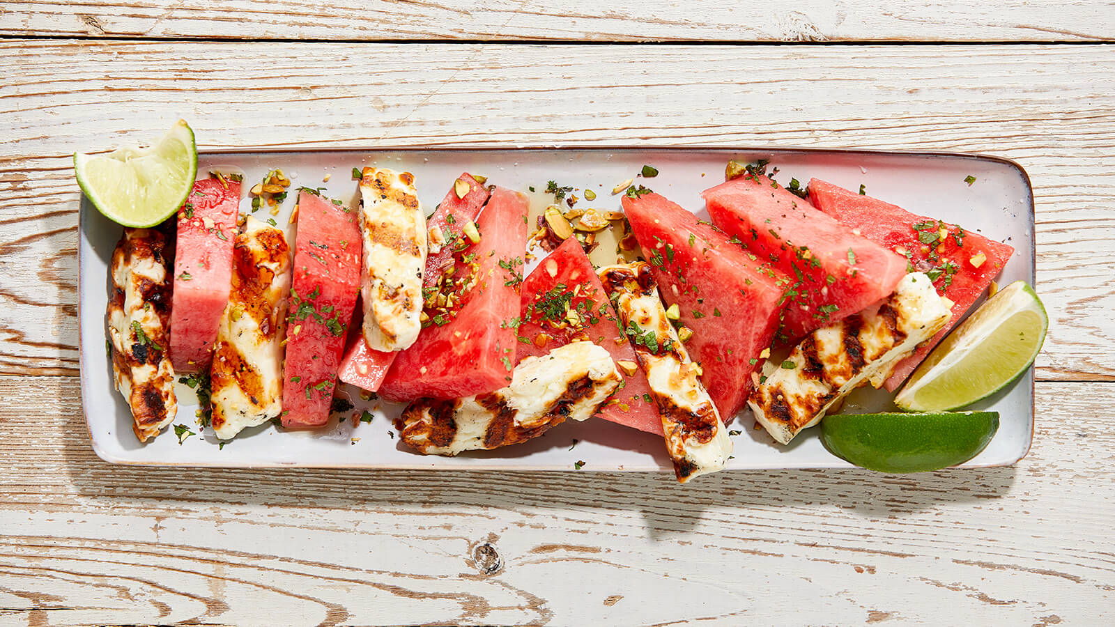 Grilled Halloumi & Watermelon