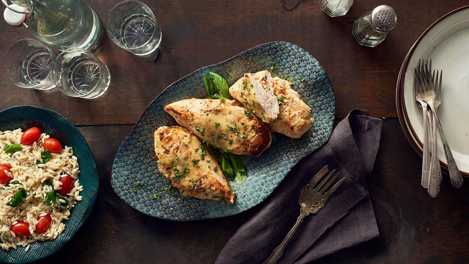 Chicken Breasts Stuffed with Cheese, Basil, and Sundried Tomato