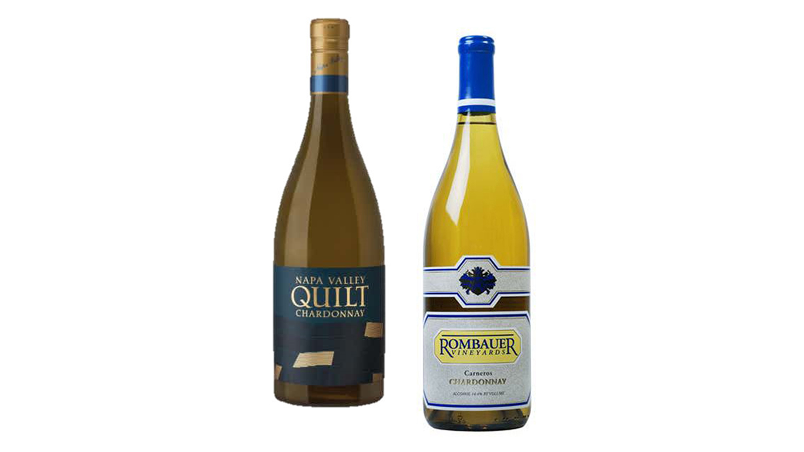 Quilt Napa Valley Chardonnay and Rombauer Chardonnay