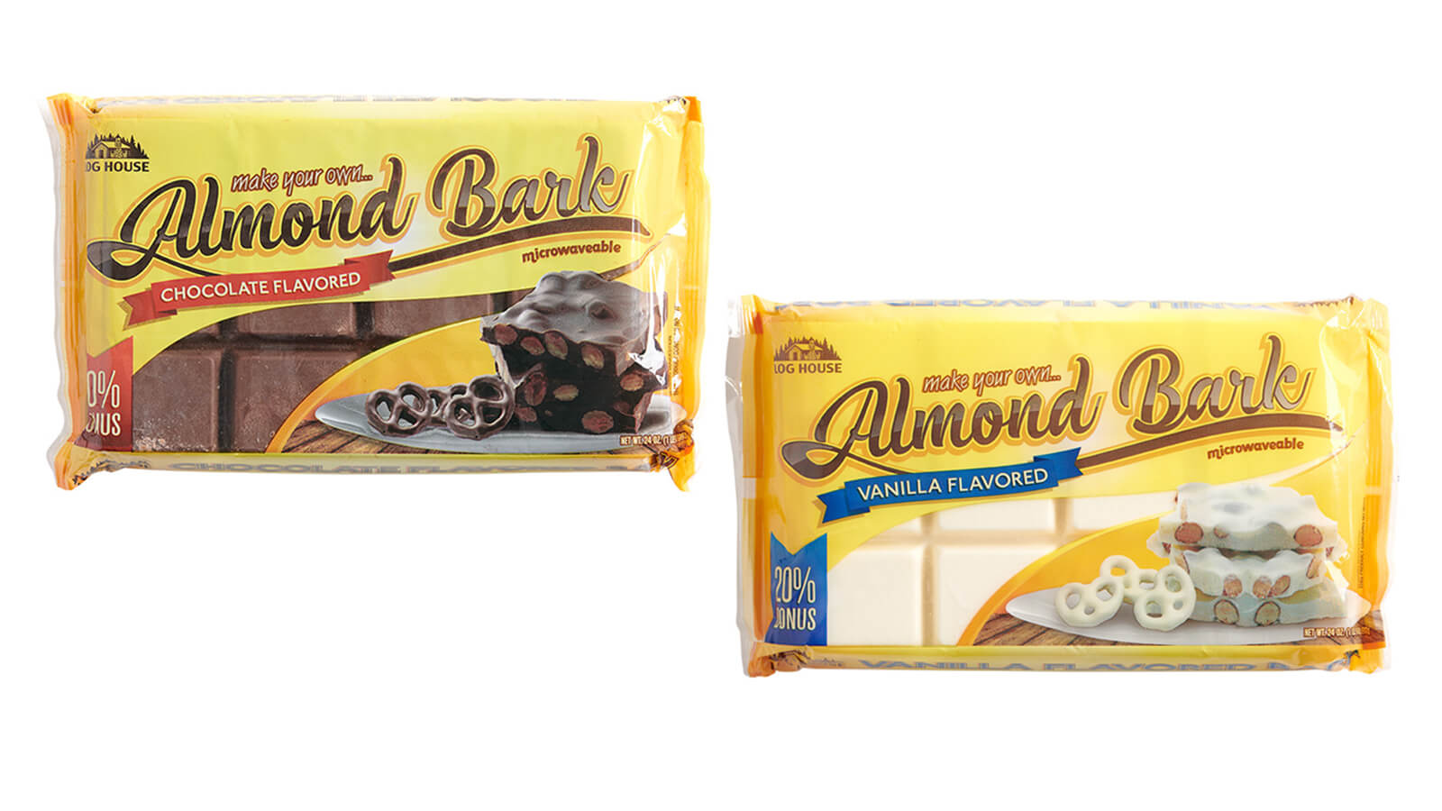 Log House Almond Bark
