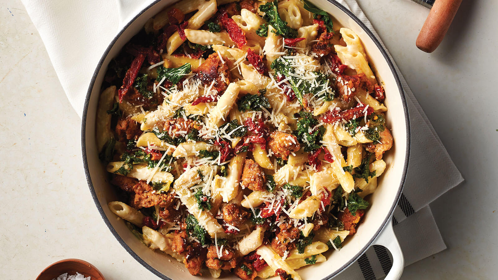 Creamy Kale and Sausage Penne