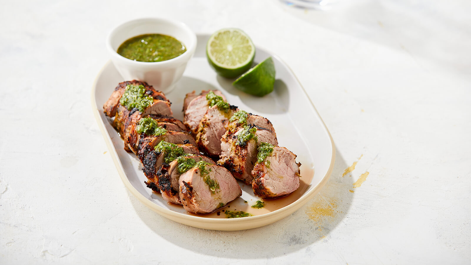 Grilled Pork Tenderloin with Verde Chimichurri