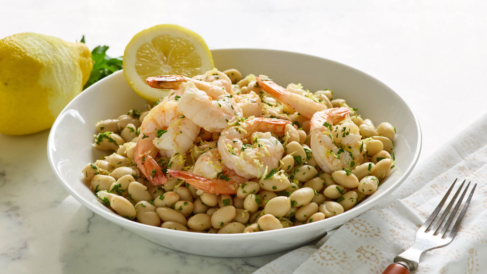 Lemon-Shrimp-with-White-Beans