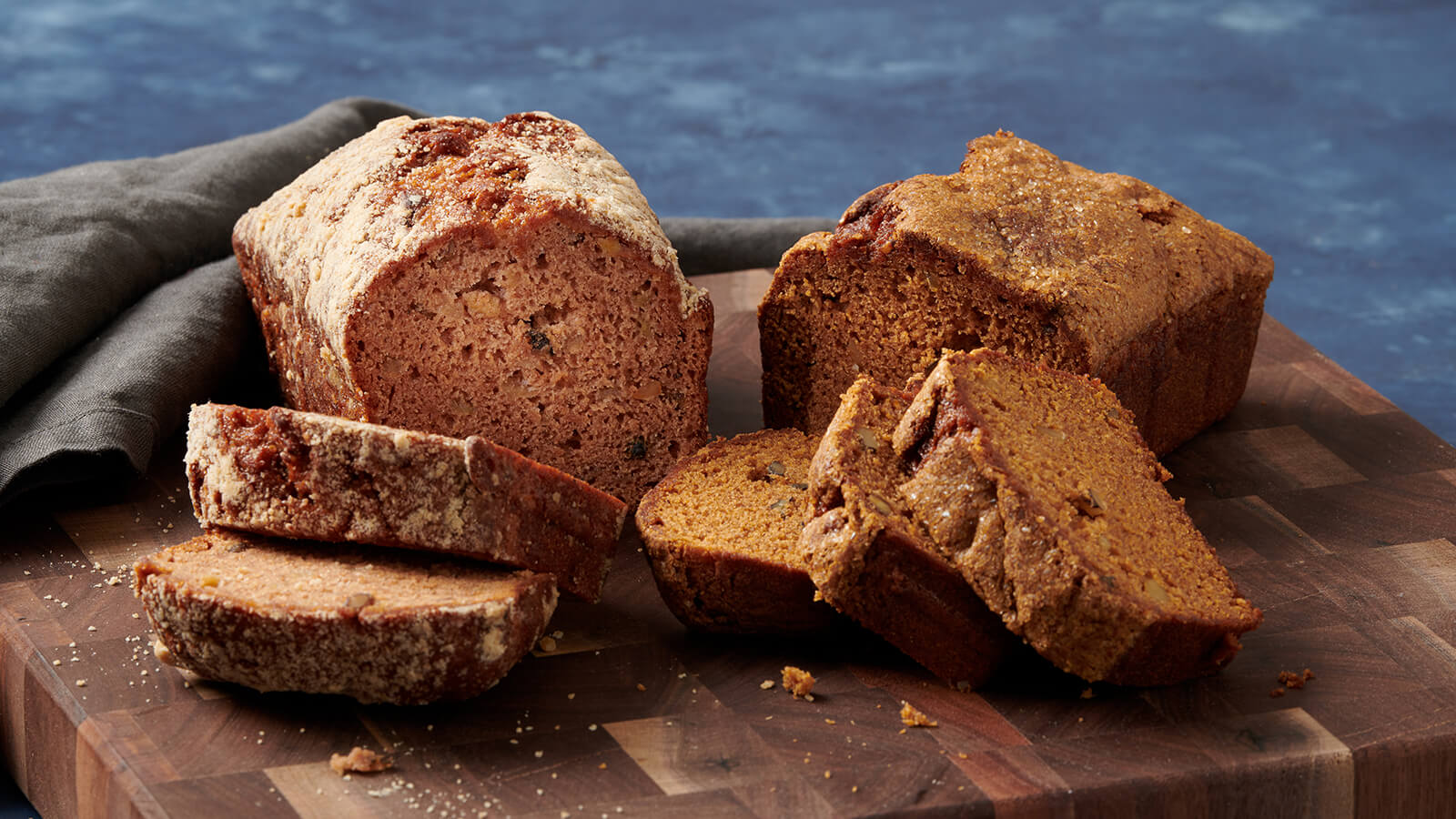 Apple Nut Bread & Pumpkin Nut Bread