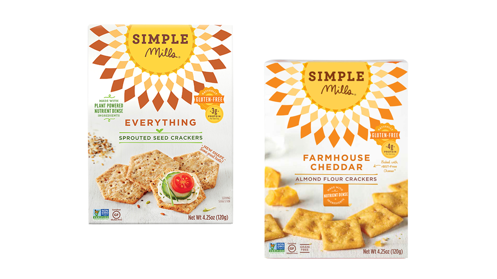 Simple Mills GF Almond Flour and Sprouted Seed Crackers