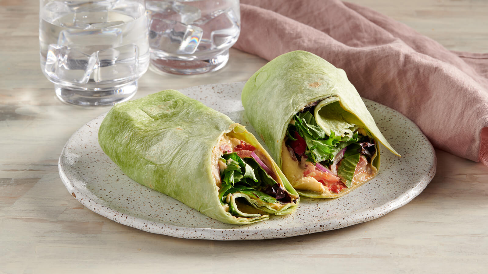 Hummus Vegetable Wrap