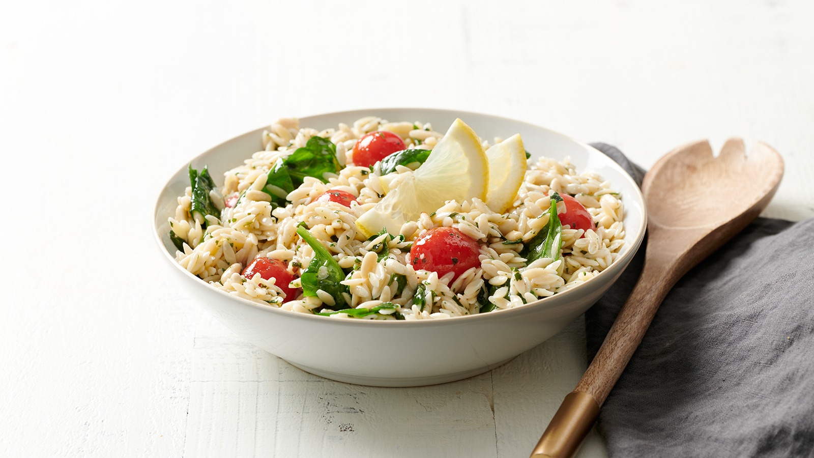lemon orzo salad