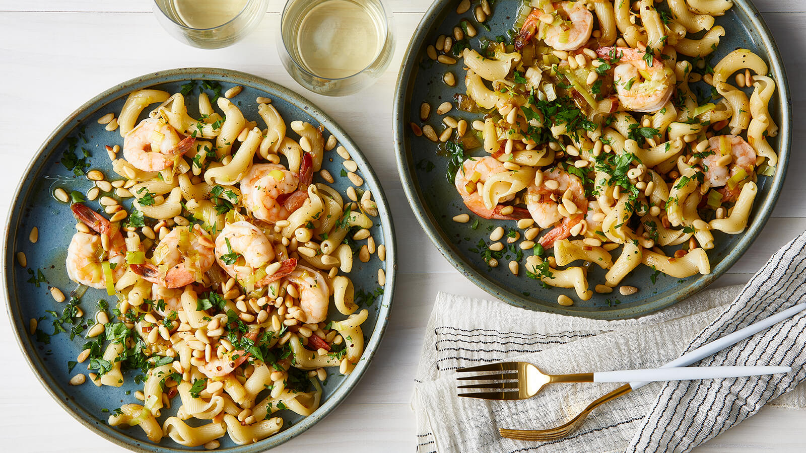 Sanremo Gigli with Prawns and Pine Nuts