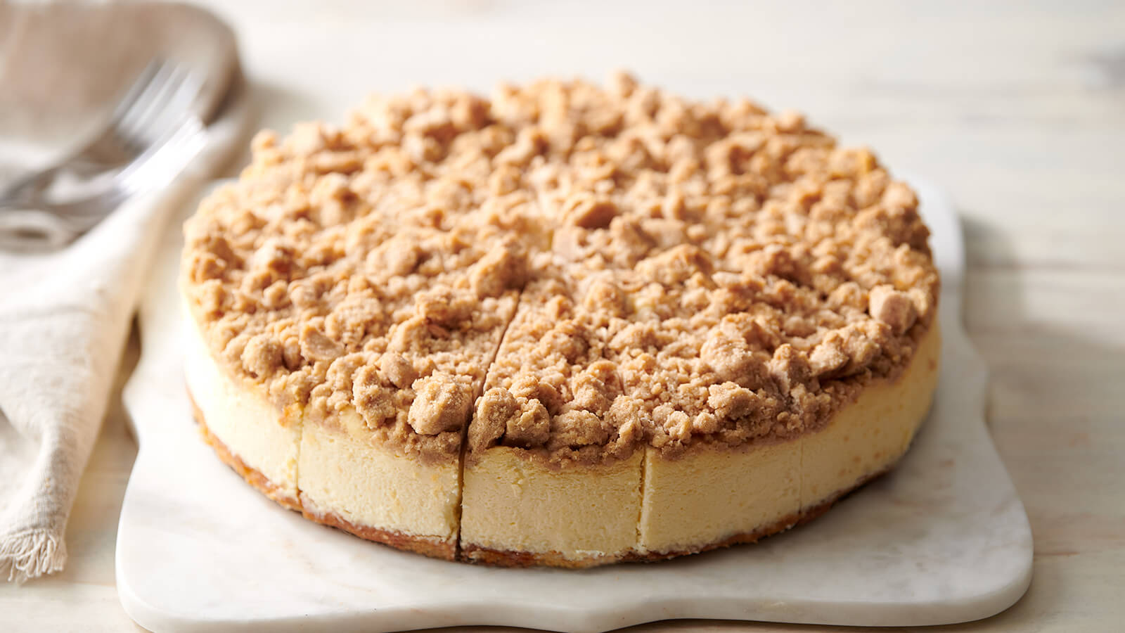 Whole Apple Crumb Cheesecake