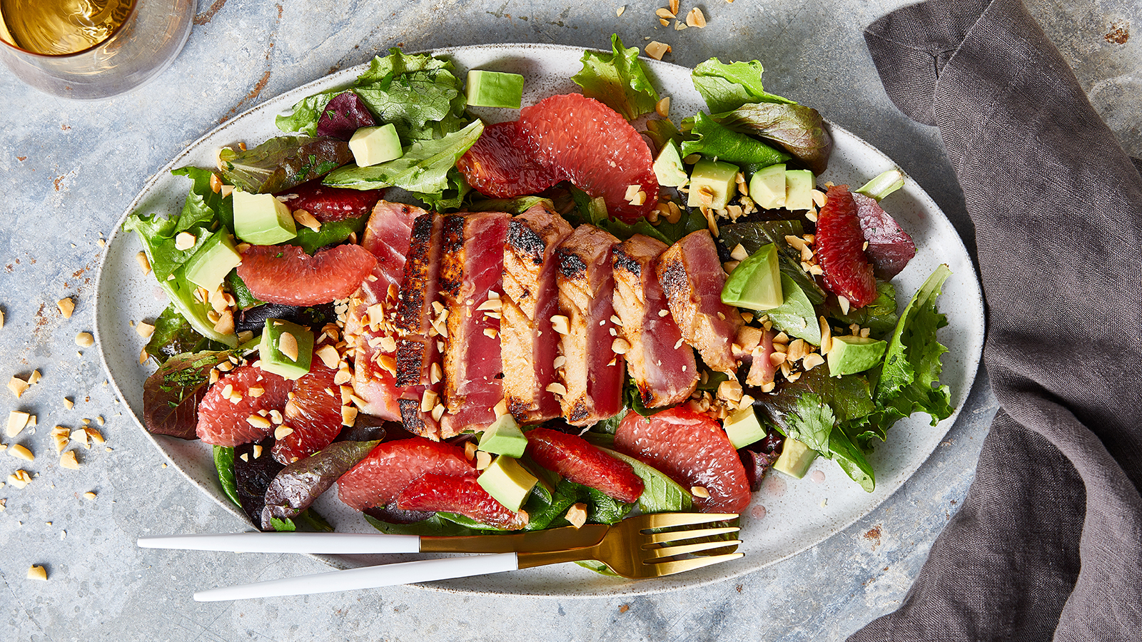 Seared Tuna Salad with Blood Orange Vinaigrette