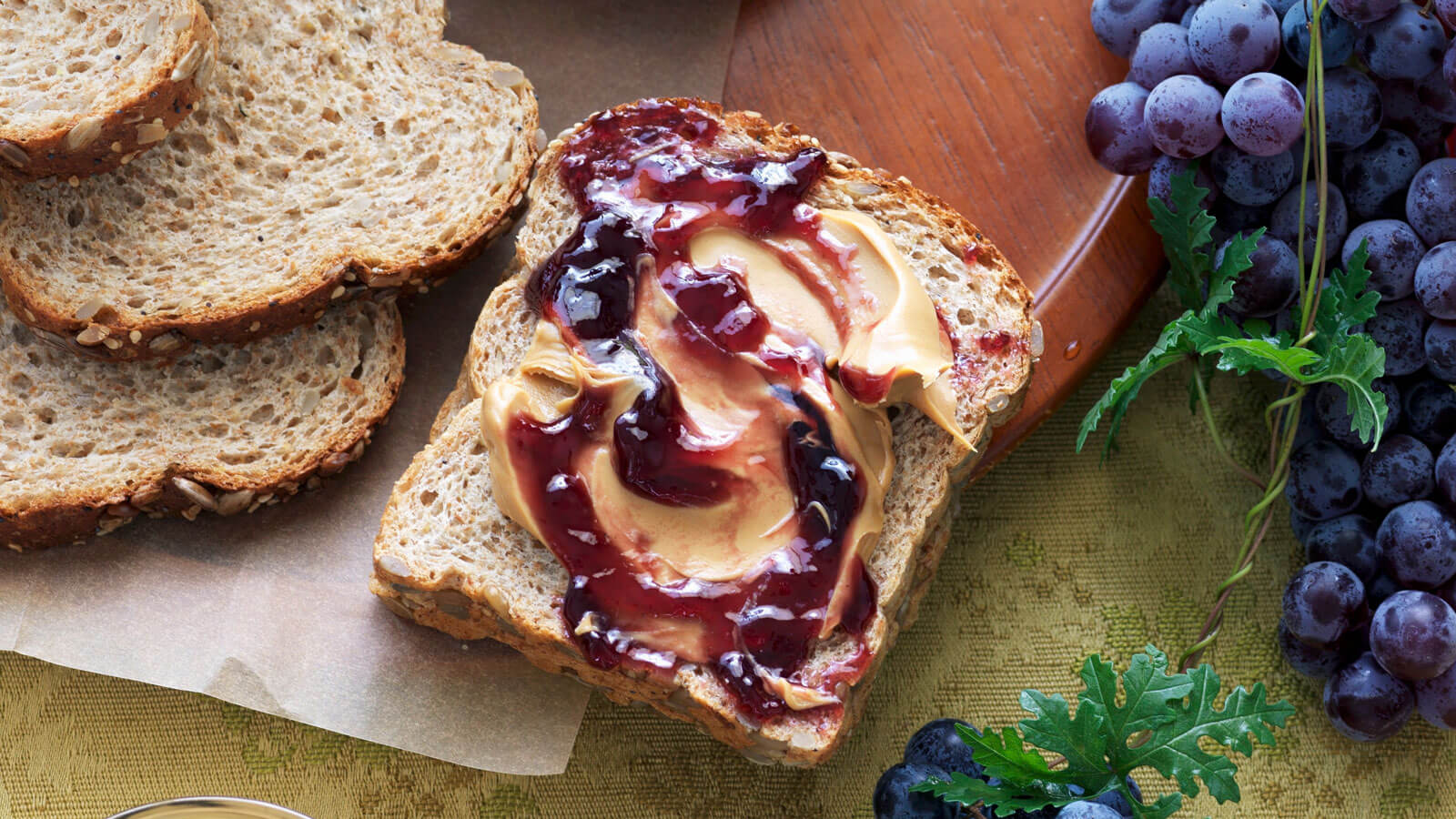 peanut-butter and jelly sandwich