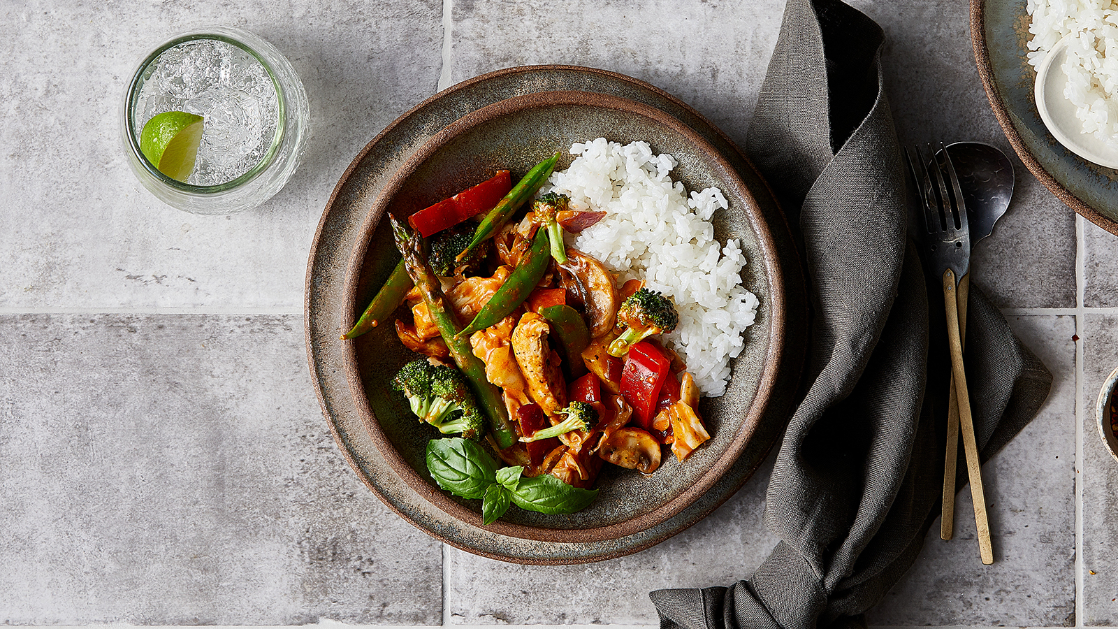 Thai Red Curry Chicken Stir Fry