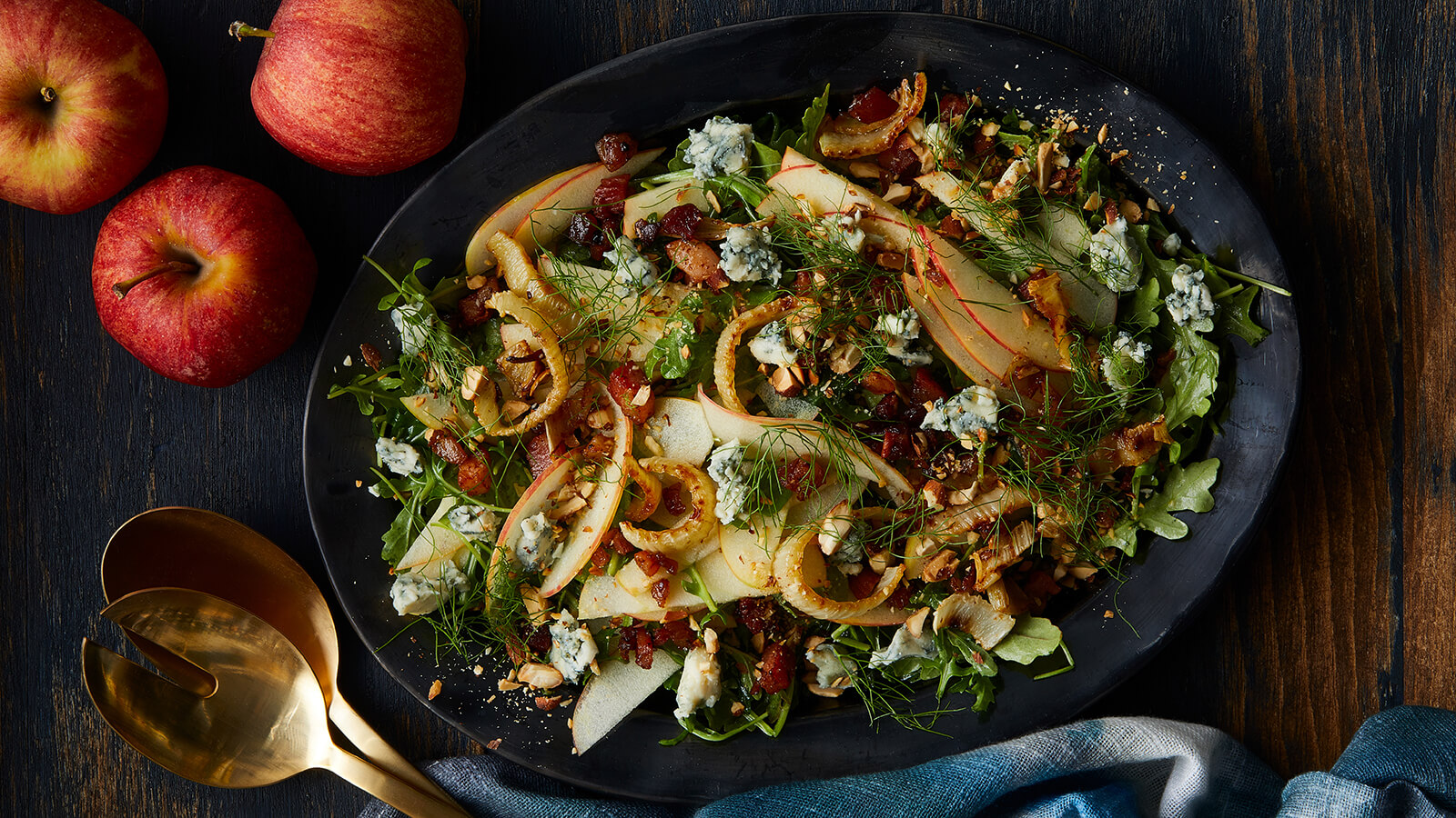 Apple and Roasted Fennel Salad with Pancetta