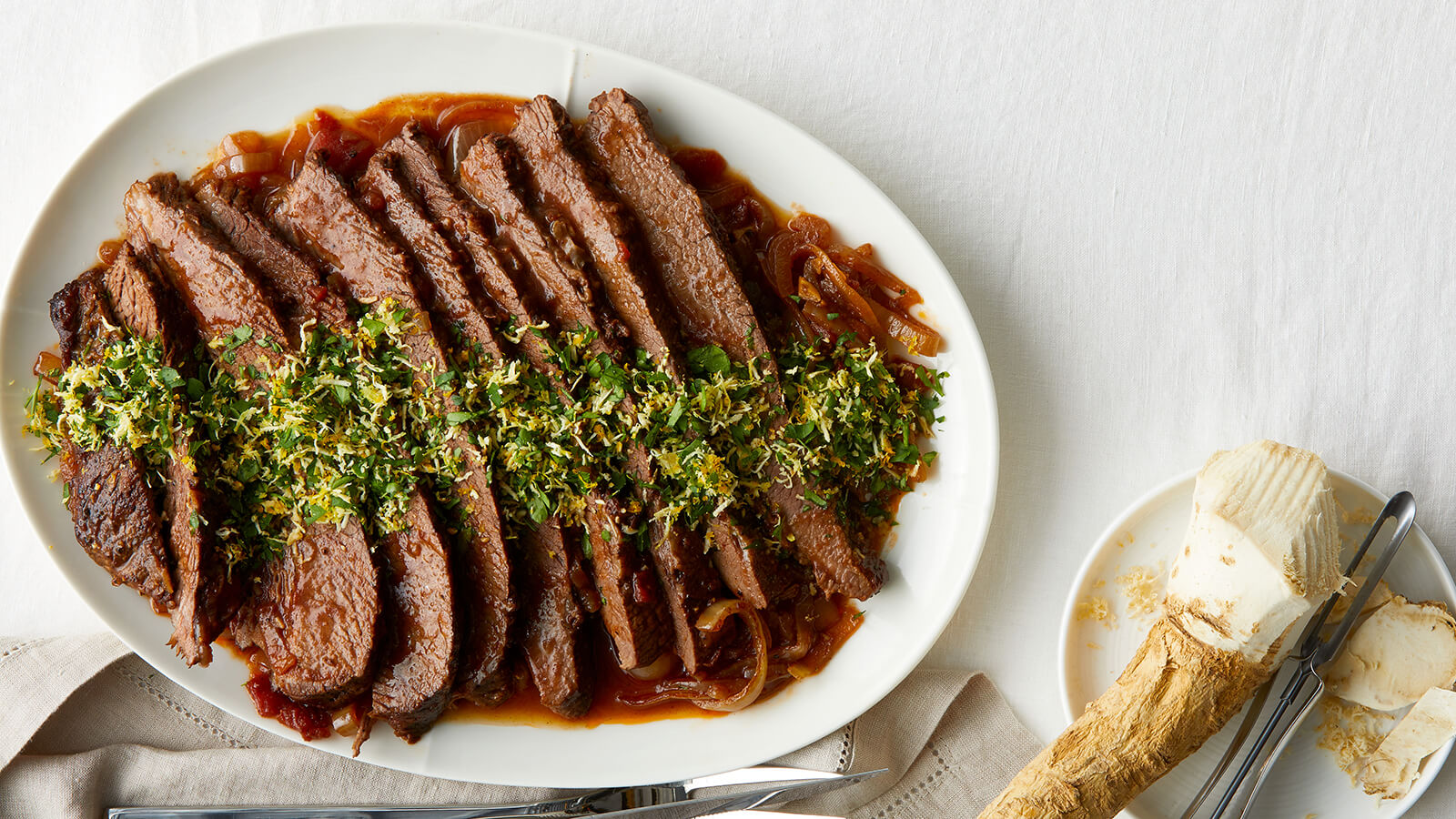 Braised Brisket with Orange Horseradish Gremolata