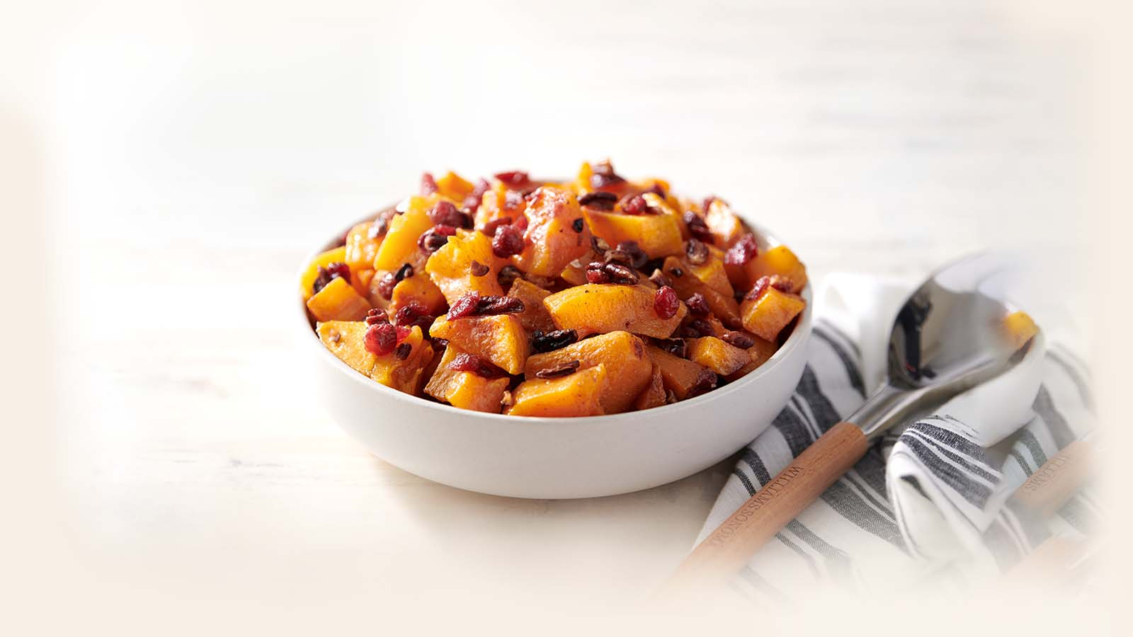 Butternut Squash with Pecans and Cranberries