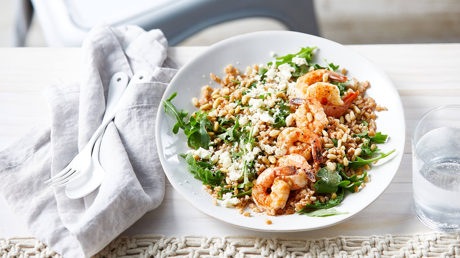 Shrimp and Farro Grain Bowl