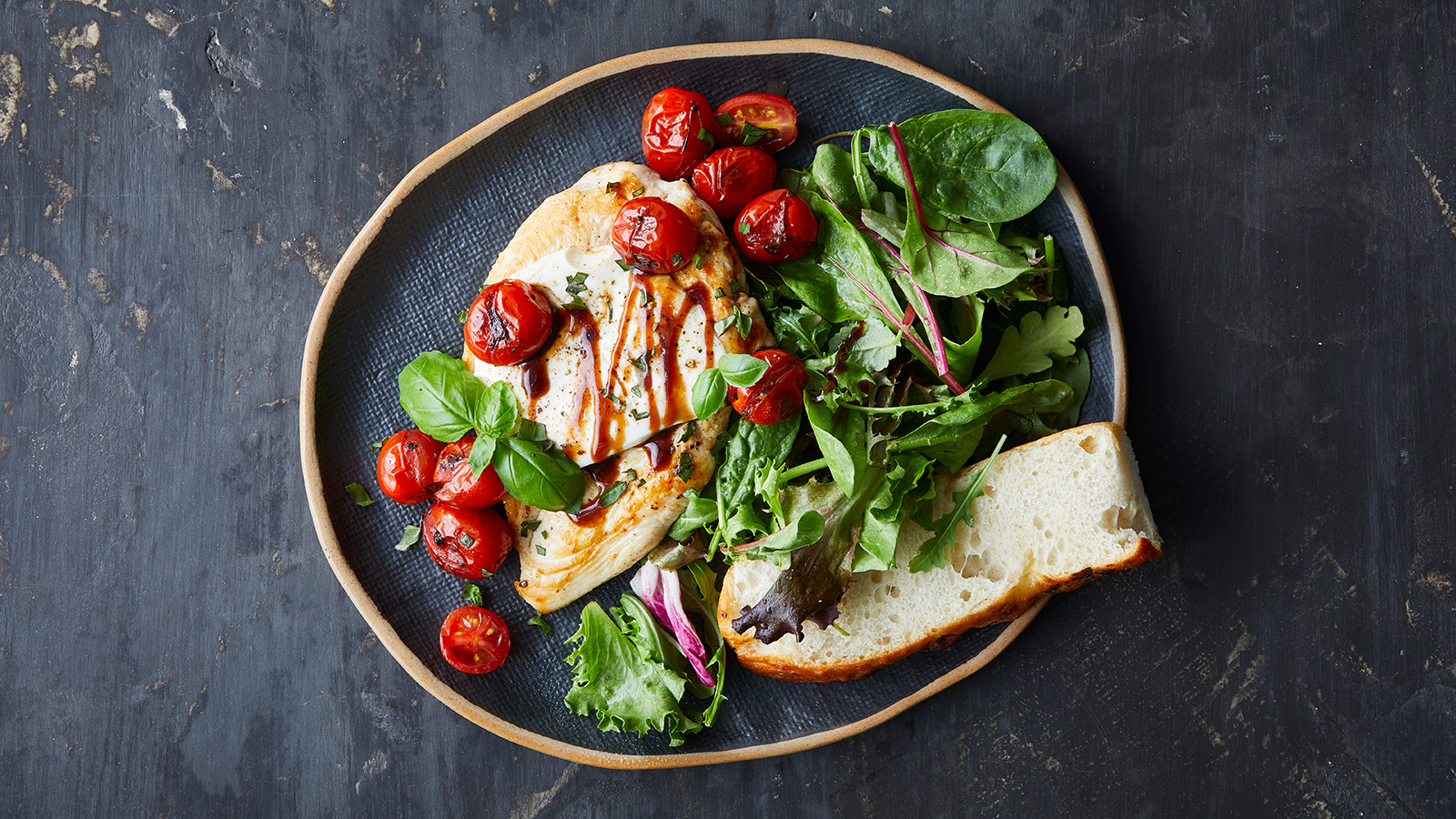 Blistered Tomato Chicken Caprese