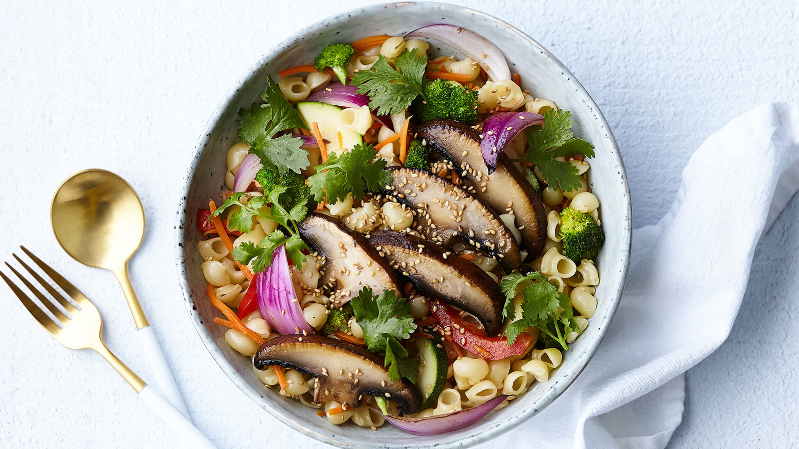 Asian-Portabella-Pasta-Salad