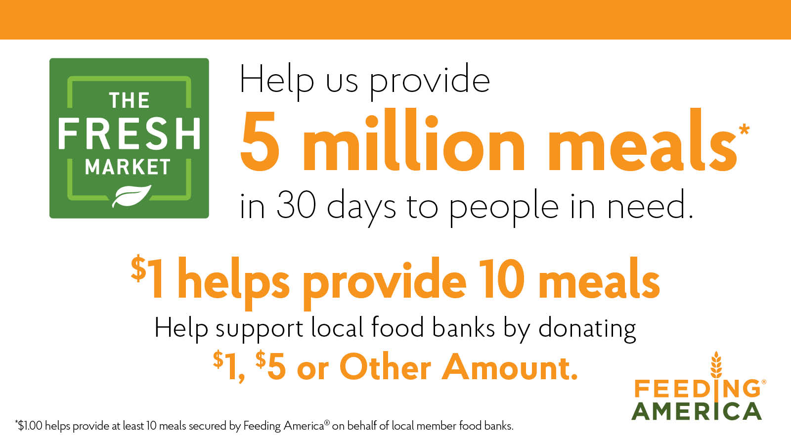Help us provide 5 million meals