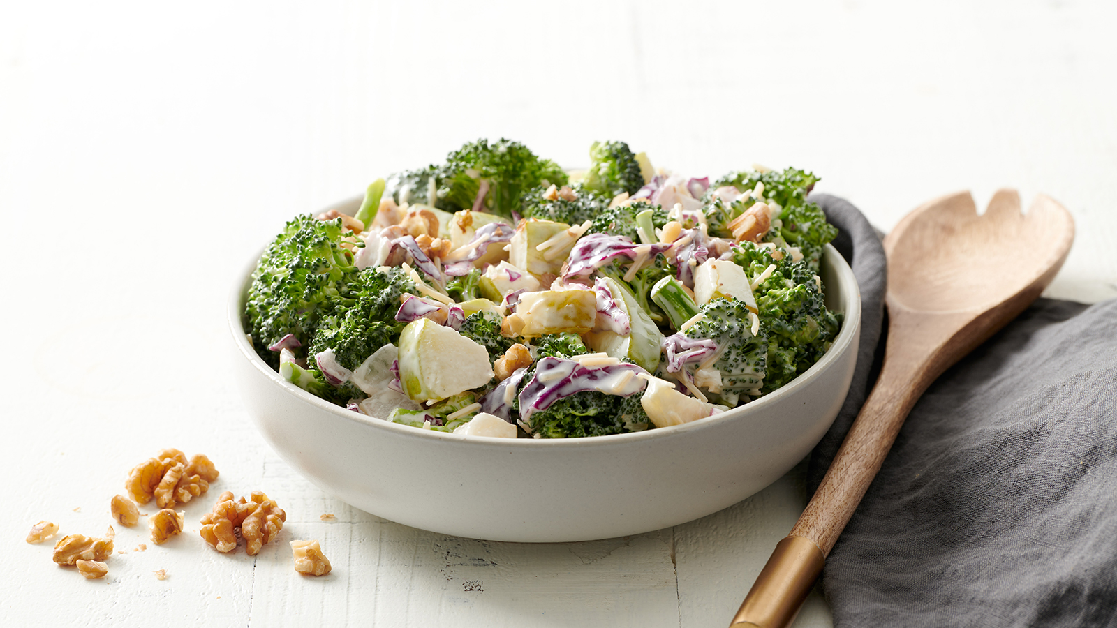 pear walnut broccoli salad
