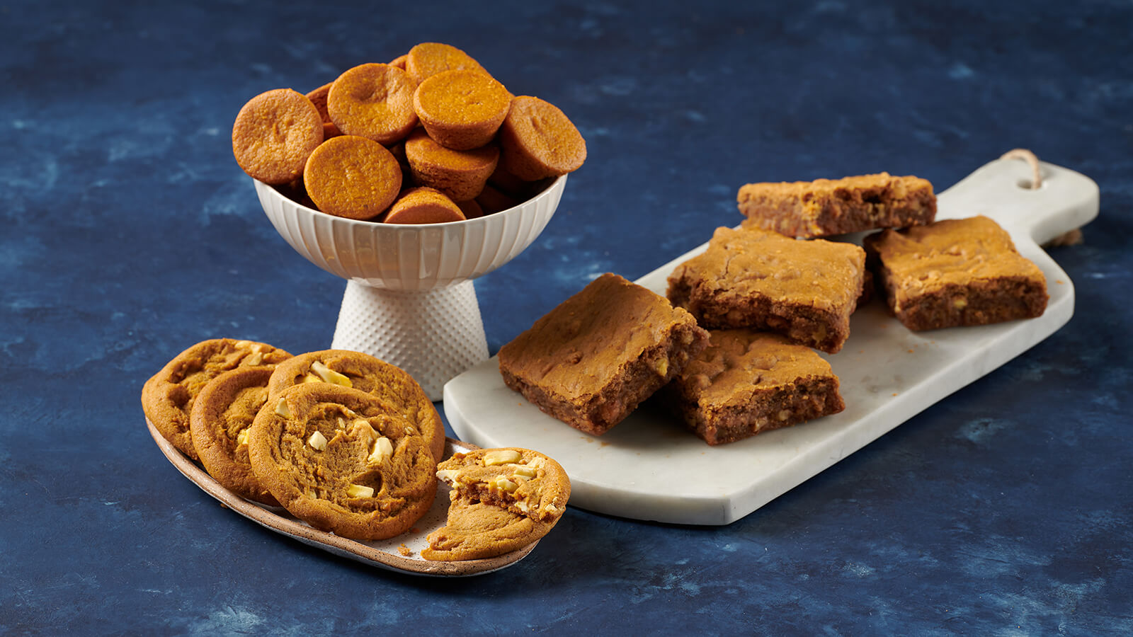 Pumpkin Blondie, Pumpkin Spice Brownie Bites, White Chocolate Cookies