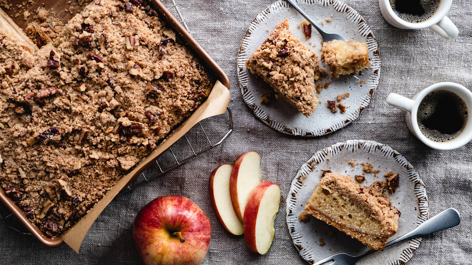 Apple Butter Crumb Coffee Cake