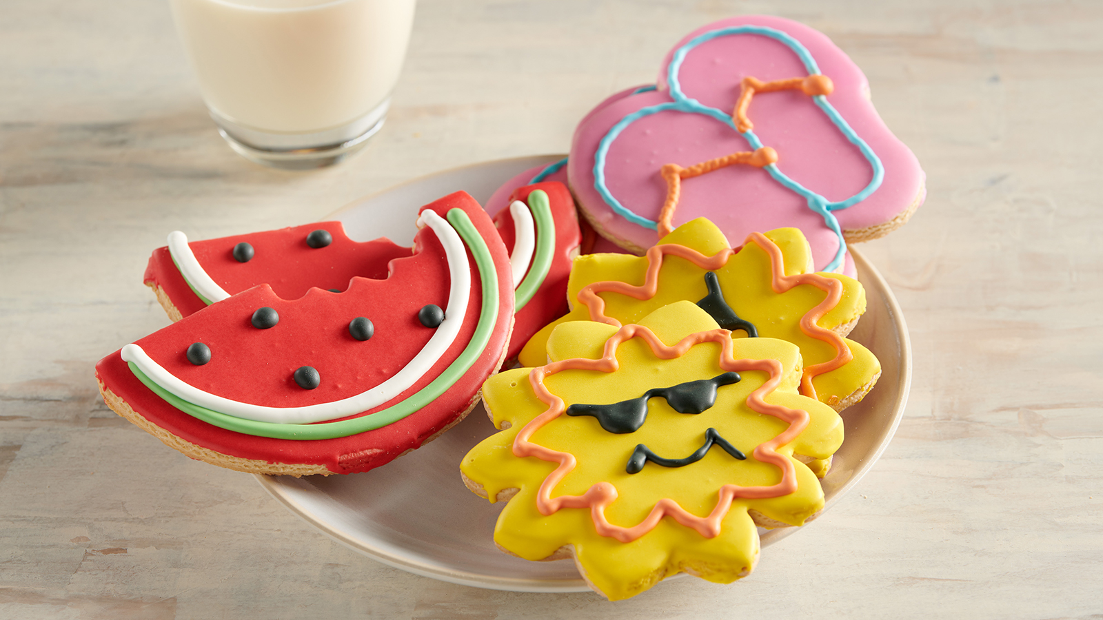 Watermelon and Summer Fun Cookies