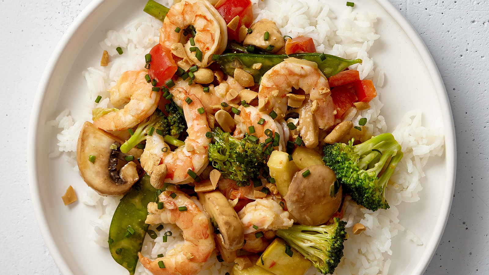 Lemongrass Basil Shrimp Stir Fry