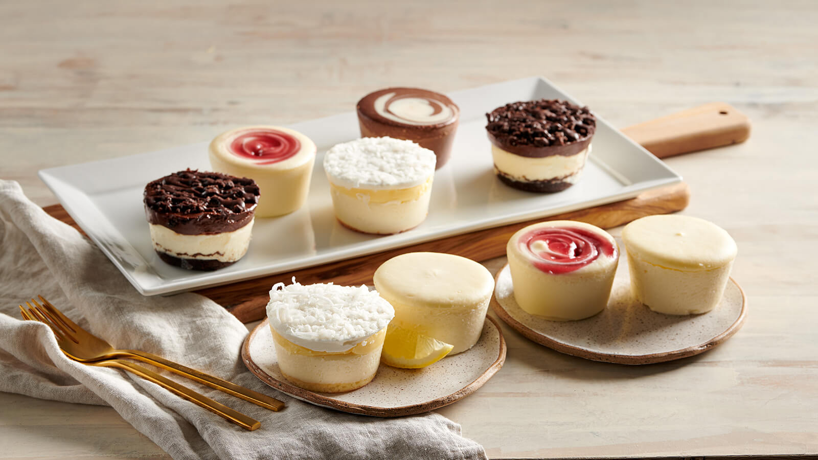 "Mini 3"" Cheesecakes"