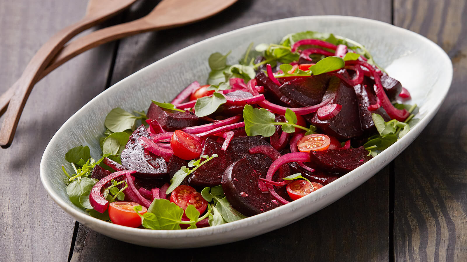 Roasted Beet Salad with Watercress & Tomatoes