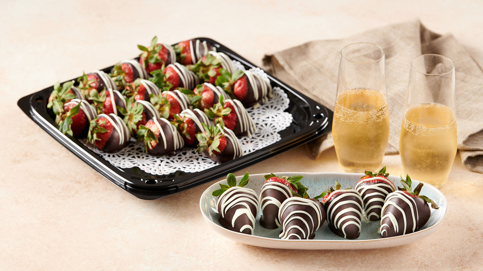 Dipped Strawberry Platter
