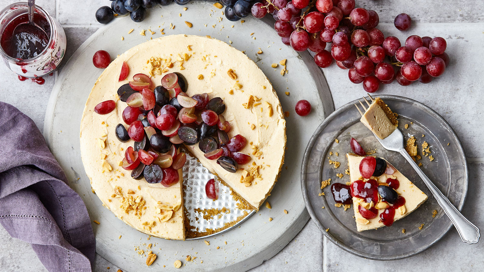 PB&J-no-bake-cheesecake
