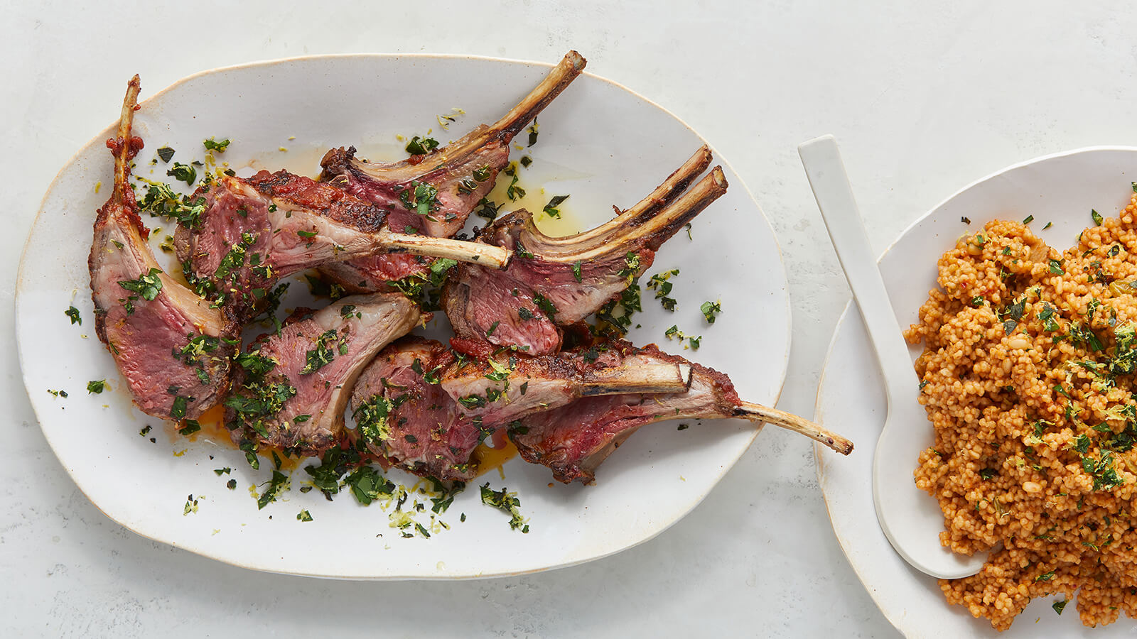 Rack of Lamb with Couscous and Herbs
