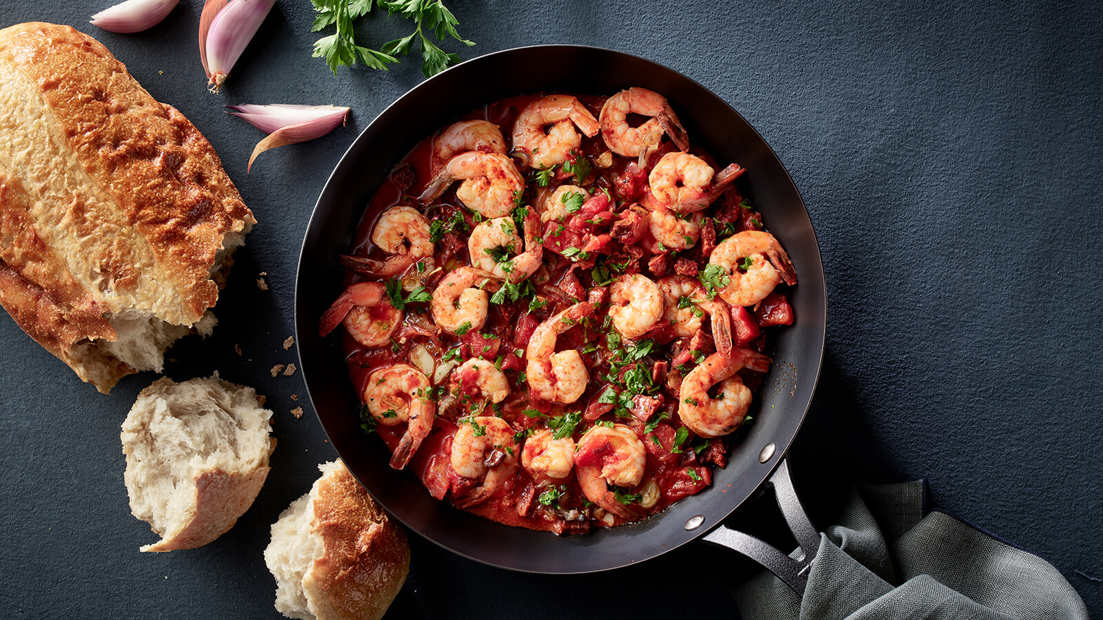 Shrimp and Chorizo Skillet