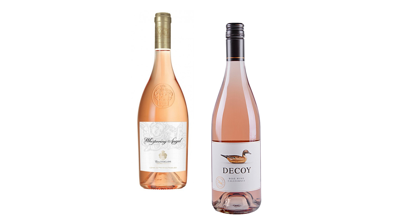 Chateau de Eslcans Whispering Angel and Decoy Rosé