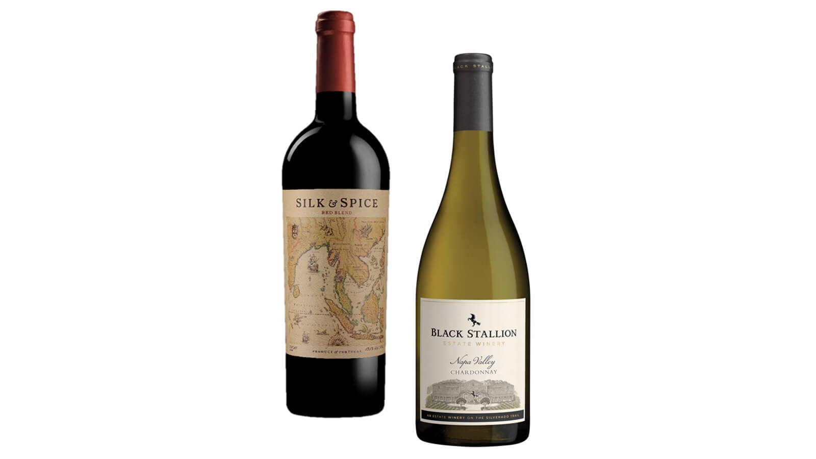 Silk & Spice Red Blend and Black Stallion Napa Chardonnay