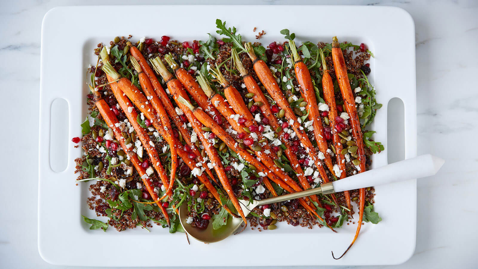Roasted Carrots And Quinoa Salad