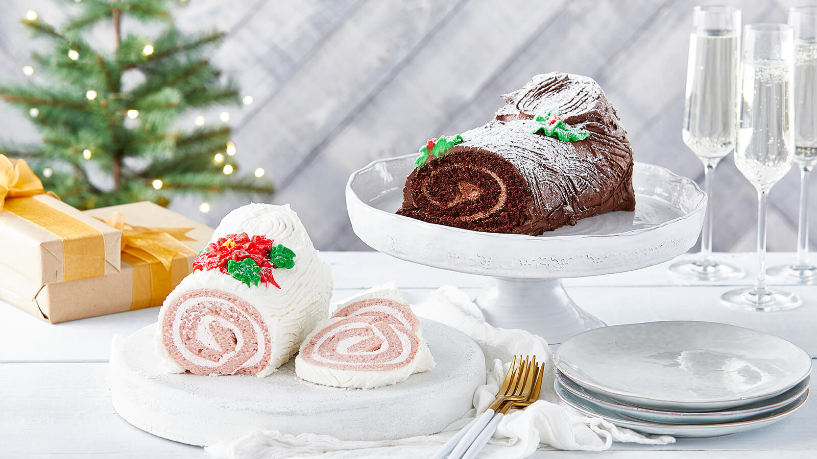 Chocolate and Raspberry Yule Log