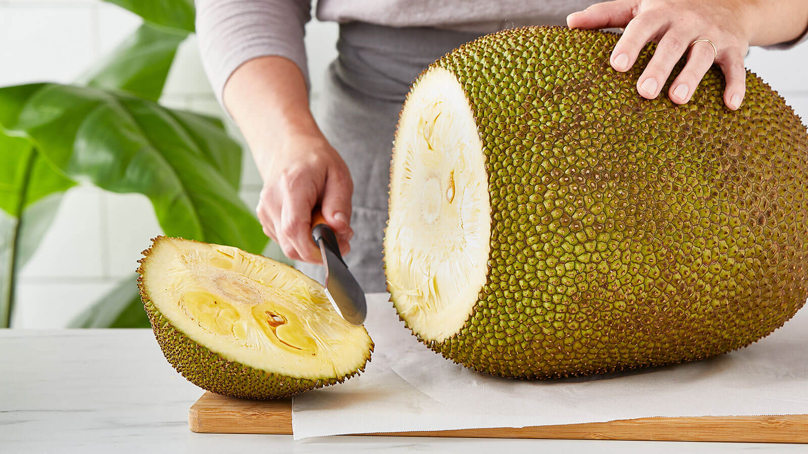 step-1 cut ends off of jackfruit