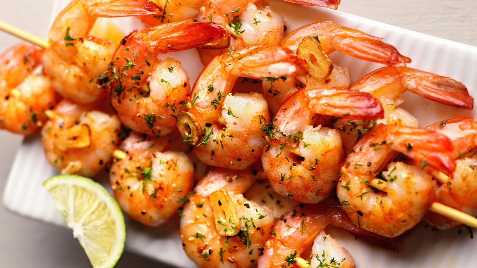 garlic shrimp skewers