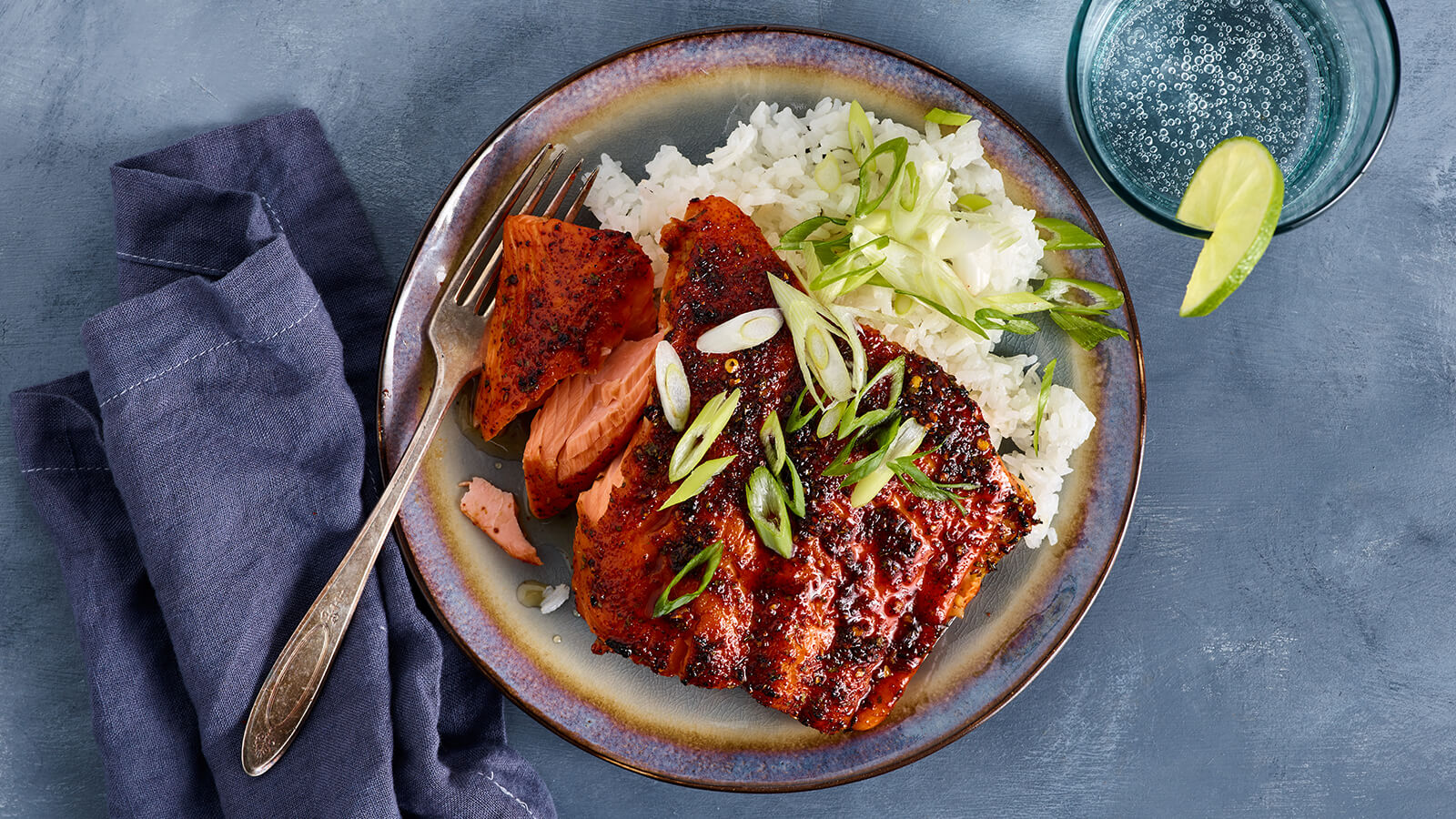 Broiled Chili Lime Maple Salmon