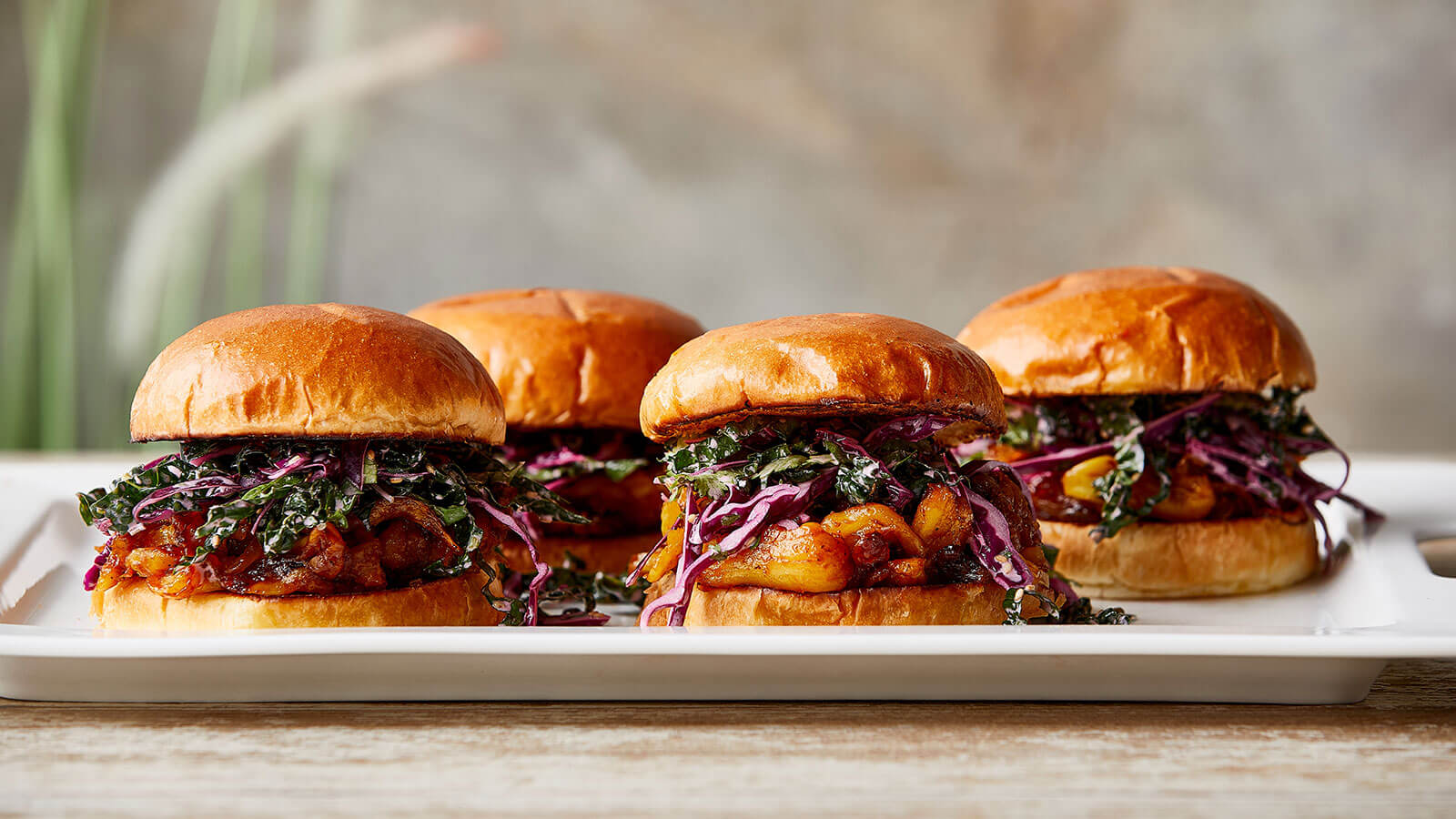 Pulled Pork-Style BBQ Jackfruit Sandwiches