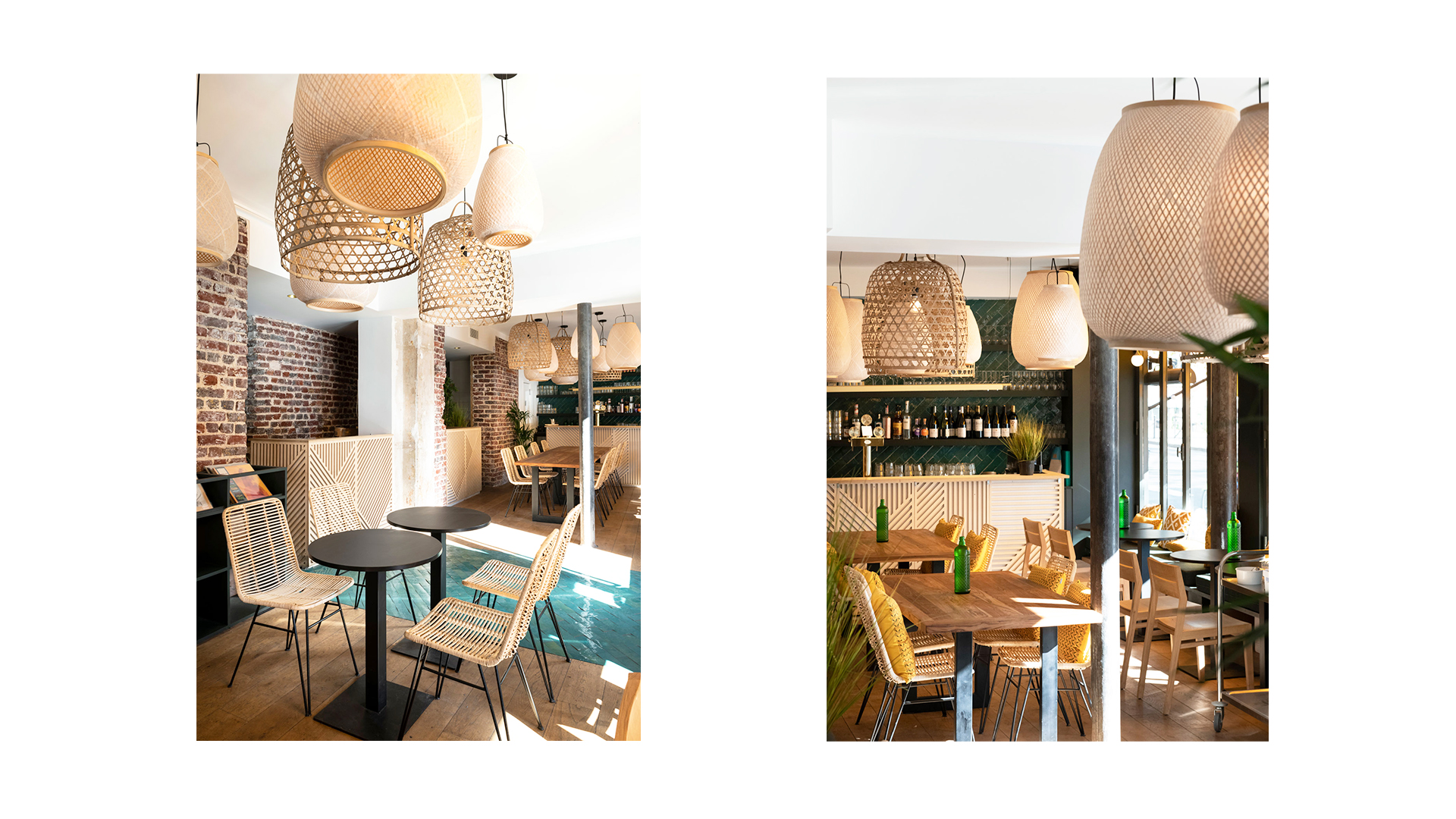 Djawa - restaurant - interior design - Paris - lighting - light - indonesian