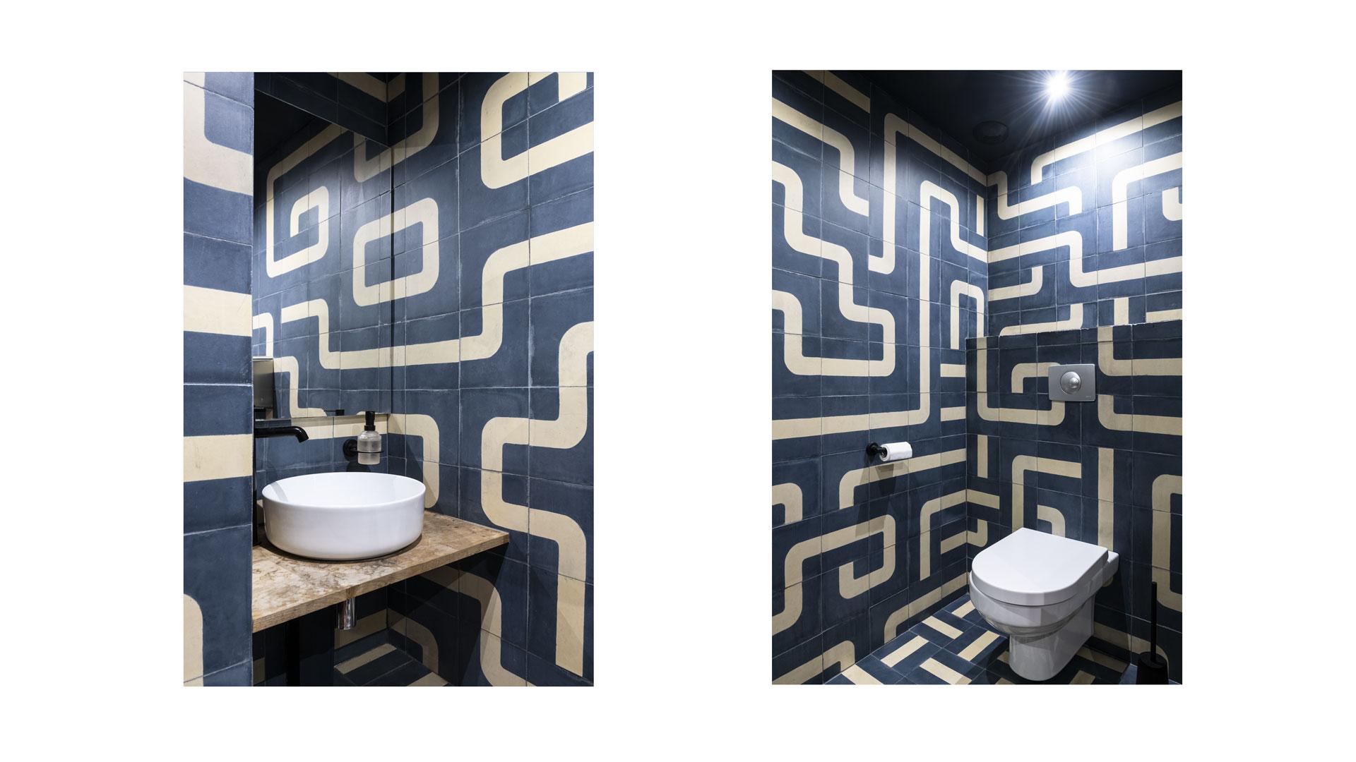 Papas Tacos - restaurant - Bordeaux - identity - custom tile - graphic