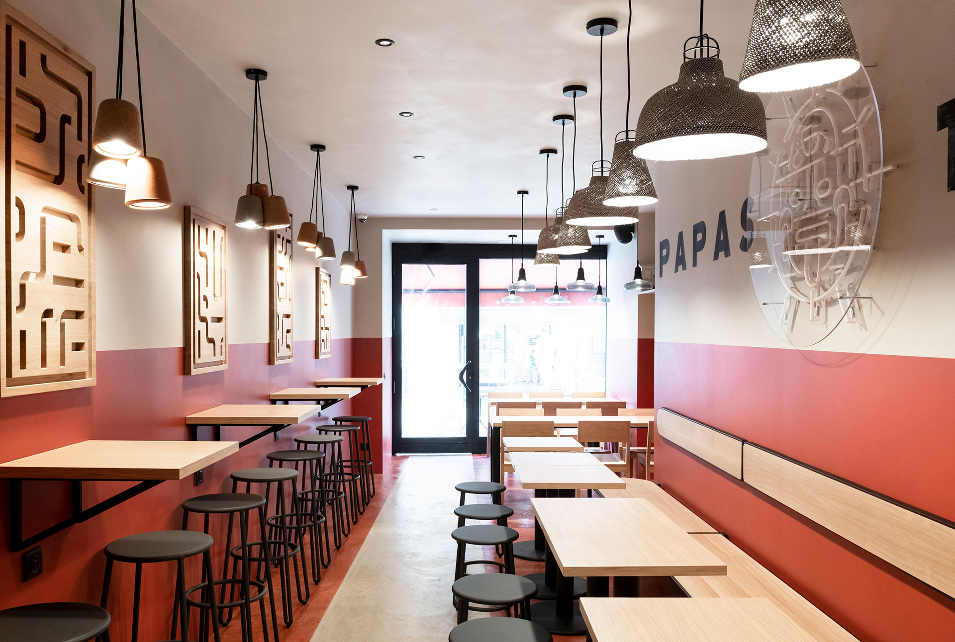 Papas Tacos - restaurant - Bordeaux - identity - interior architecture