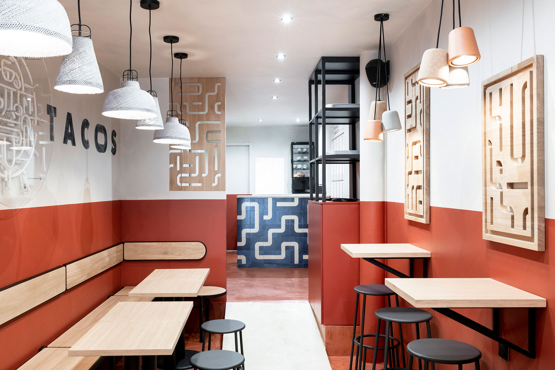 Papas tacos - restaurant - Bordeaux - identity - interior architecture - graphic