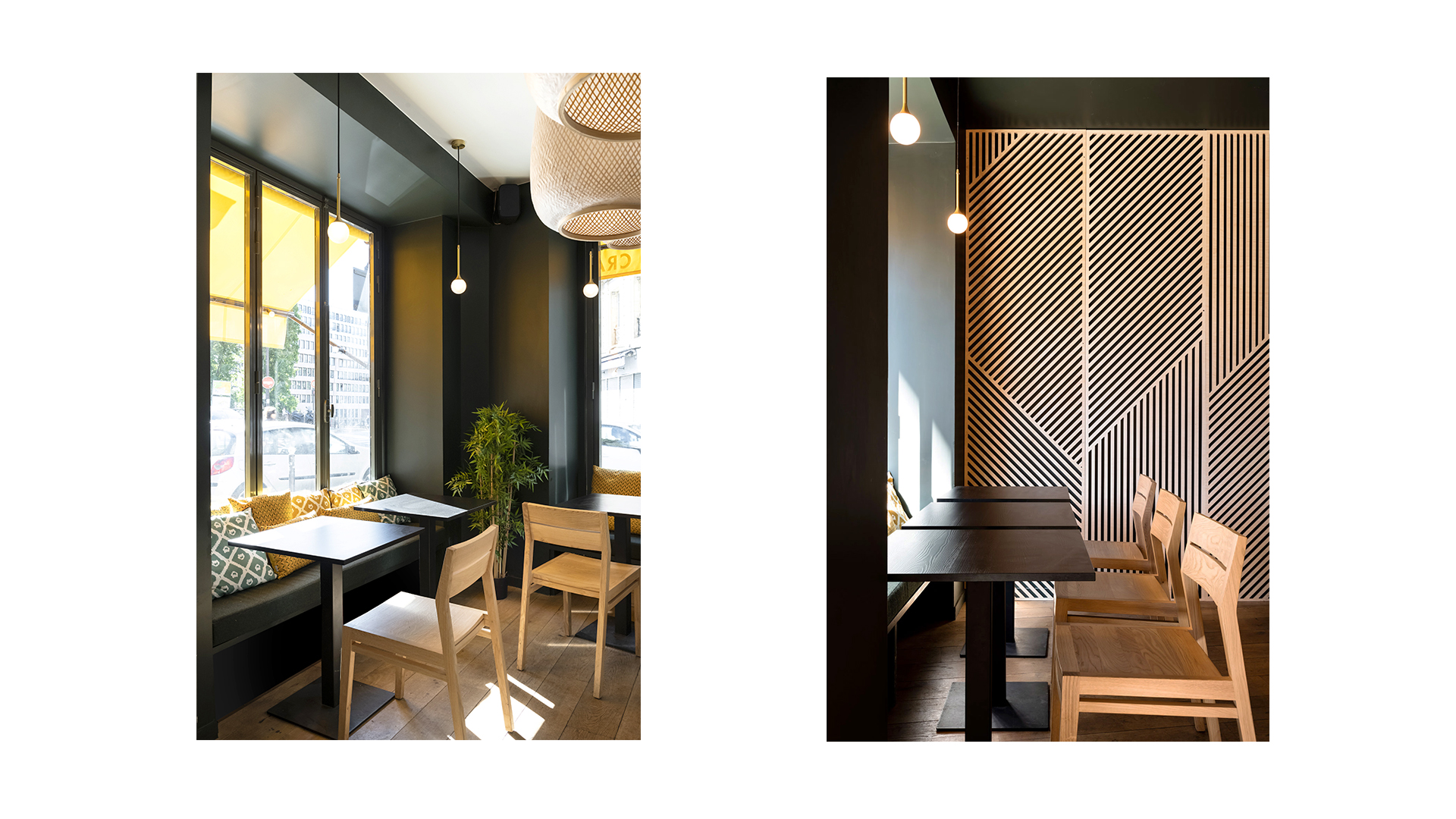 Djawa - restaurant - interior design - Paris - sitting - table - chair