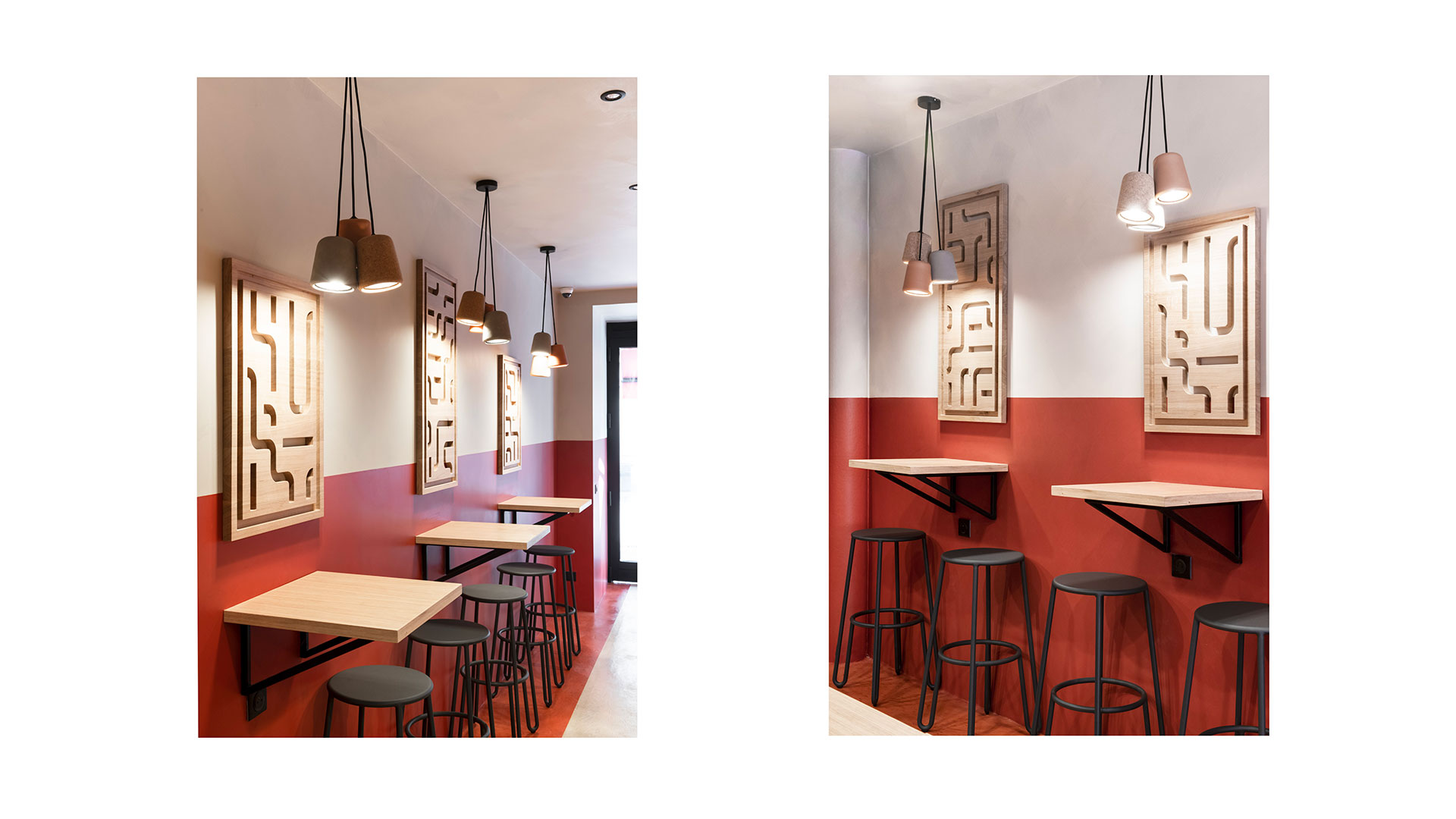 Papas Tacos - restaurant - Bordeaux - identity - architecture - light